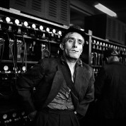 GB. Coal Miner, Wales. Miner at the Cwm colliery in South Wales. These kings of the working class sensed that their world would soon change. Miners always elicited extreme reactions from the ruling class, who saw them as enemy to be destroyed. Today they are virtually all gone - for reasons unconnected with economics. 1957.