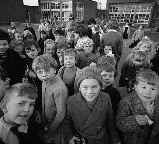 GB England. Children at a school in Doncster. 1961.