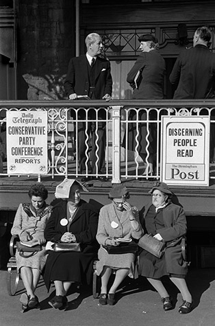 GB. WALES. The Prime Minister and his wife with some delegates at their party conference in north Wales. 1956