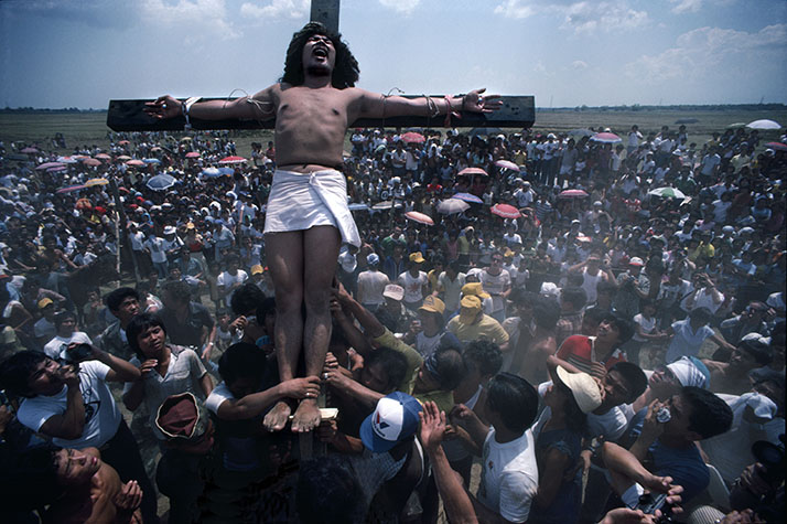 PHILIPPINES. Religion in the Philippines. In San Fernando a young man is crucified each year on Good Friday.