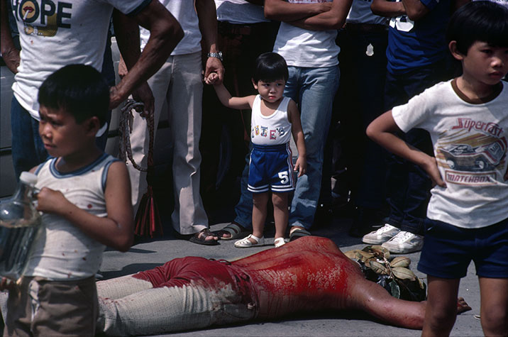PHILIPPINES. Religion in the Philippines. Penitents known as the 'Flagellantees' whip themselveswith glass spiked leather thongs on their bare backs until they ooze with blood. 1981.