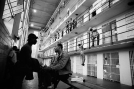 US. VIRGINIA. The American justice system directs attention away from corporate crime. A deluge of trivia about murder and mayhem is provided, sending the message that everyone is wallowing in original sin and that deliverance can only come from a strong police force. The economically deprived - mostly blacks - who turn to crime are increased in ever-increasing numbers. 1986