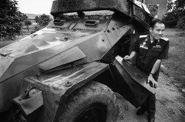 VIET NAM. At the Truong Son Division Headquarters near Ha Noi is a custom made vehicle for setting off magnetic bombs. This armour-plated vehicle sported a giant electro-magnet that detonated the bombs at a safe distance. The driver became impotent after years of exposure to the strong magnetic field.