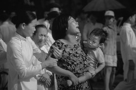 """VIET NAM. Funeral scenes. The American Commander, General Westmoreland, declared: """"Orientals do not share the same respect and love for life as Westerners do."""""""