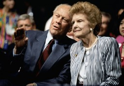 USA. Houston, Texas. 1992. Gerald and Betty FORD at the Republican Convention.