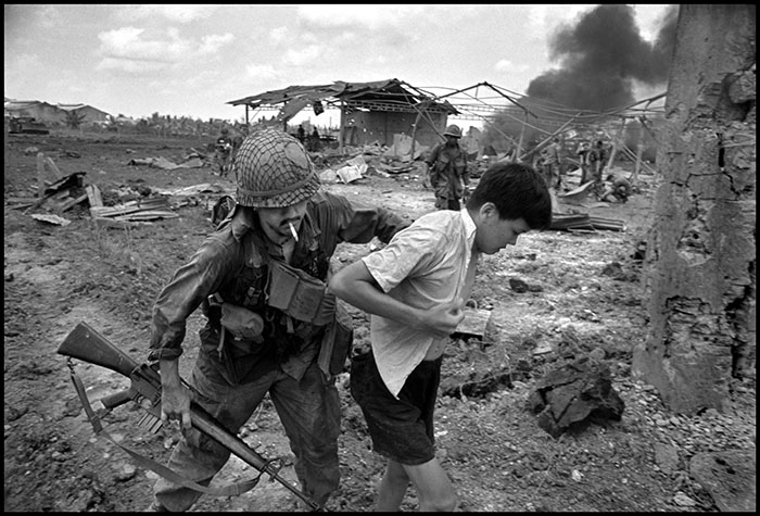 VIETNAM. 1968. Innocent peasants take the brunt of the U.S. military drive.