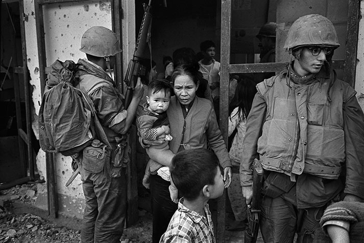 VIETNAM. During the Vietnamese New Year celebrations of the Tet, the city of Hue an ancient Mandarin walled city which stood on the banks of the perfumed river and near to the demilitarised zone, a force of 5000 Vietcong and NVA (North Vietnamese Army) regulars took siege of the citadel. The American sent in the Fifth Marine Commando force to dislodge them. 1968