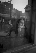 GB. England. Man observing the Aldermaston March as it passed through London on its way to Trafalgar Square. 1961.