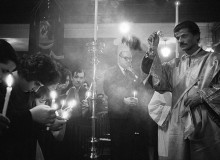 GB. ENGLAND. North London. Greek Orthodox church. 1961.