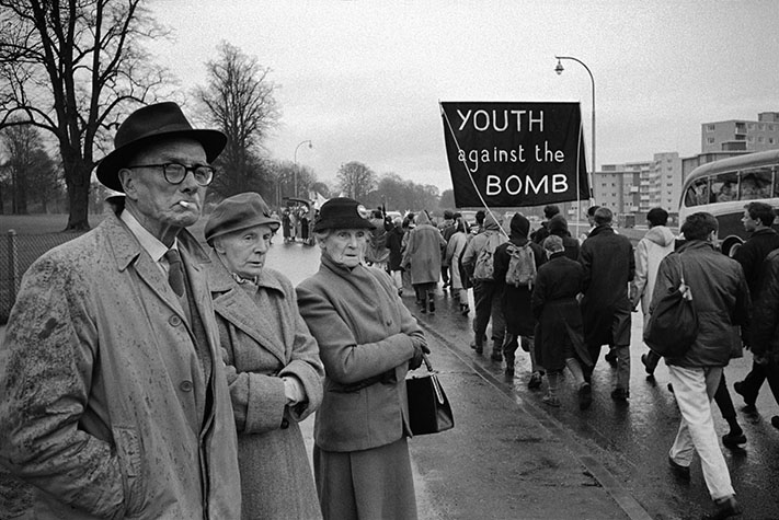 G.B. ENGLAND. London. Ban the Bomb Aldermaston march. 1962.