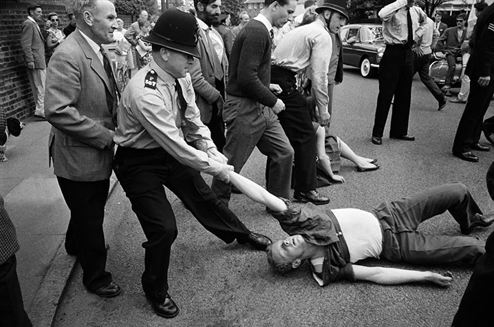 G.B. ENGLAND. London. Demonstration against Harold McMillan, London.1962.