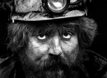 G.B. WALES. Merthyr. Coal-face worker. Retired miner. 1993.