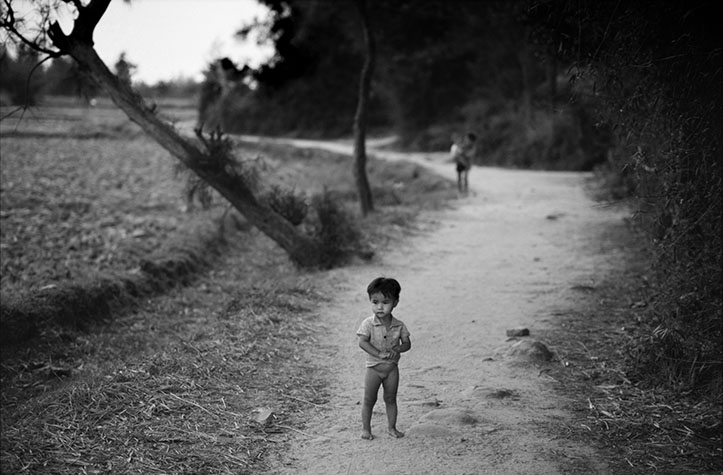 VIET NAM. A child on the infamous path where hundreds of women and children were murdered.