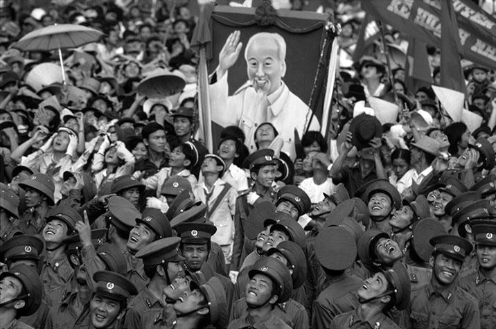 VIET NAM. Ho Chi Minh City. Joyous crowds at a victory celebration.