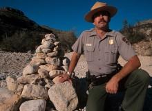 USA.  New Mexico.  1999.  Rattlesnake Canyon.  Death In The Desert.   Ranger Mark Maciha.