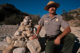 USA.  New Mexico.  1999.  Rattlesnake Canyon.  Death In The Desert.   Ranger Mark Maciha.