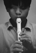 VIETNAM. NGUYEN Hoang Phuc, 13, an accomplished flute player, was born without eyes. 1994