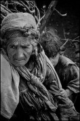 Grandmother and child in a regroupment camp in the Kabylie region.