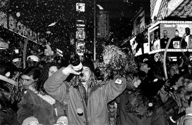 USA. NYC. 1995. New Year's Eve. Times Square.
