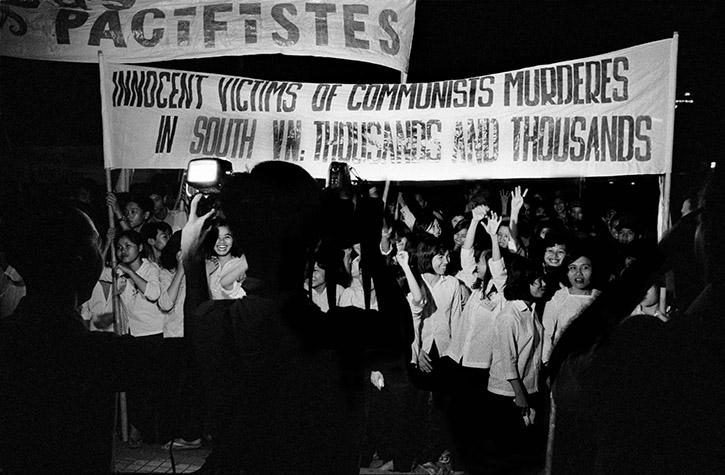 VIETNAM. A CIA-organized demonstration of