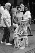Woman at South Street Sea Port, New York City, U.S.A