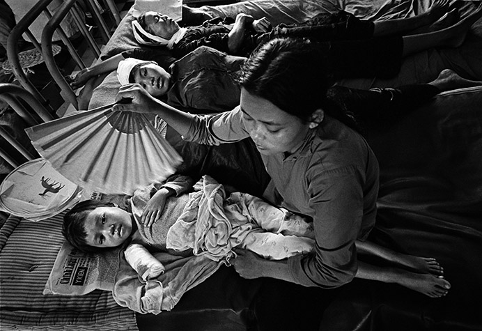 VIETNAM. In Quang Ngai Province everything that moved was a target. It had been strongly Communist for thirty years and in practice U.S. policy was genocide.  Each morning, a few lucky survivors of the previous night's carnage made it to the province hospital.  The newly developed antipersonnel weapons caused a problem - their plastic darts did not show up on X-rays. 1967