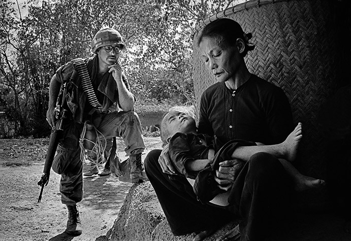 VIETNAM. Quang Ngai. This was a village a few miles from My Lai.  It was a routine operation - troops were on a typical